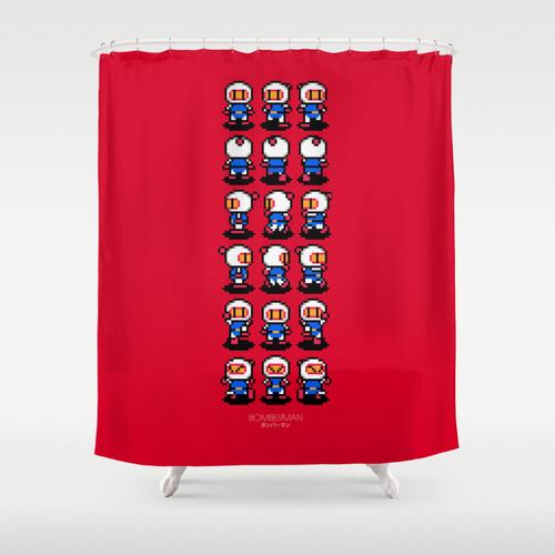 Cortina de ducha Bomberman