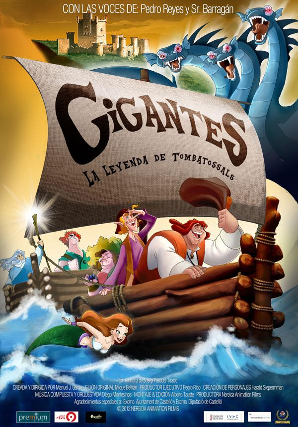 Carátula de la película de animación, Gigantes. La Leyenda de Tombatossals