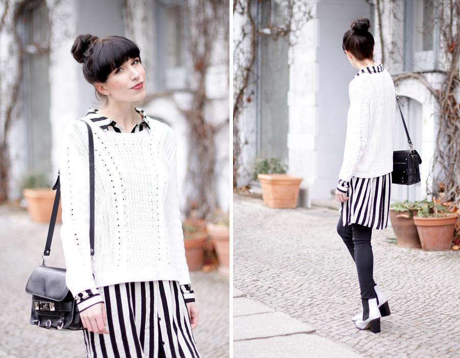 bun stripes black white outfit sacha schuhe boots proenza schouler numph minimal cute styling fashionblogger berlin hannover ricarda schernus blog cats & dogs wie hund und katze 2