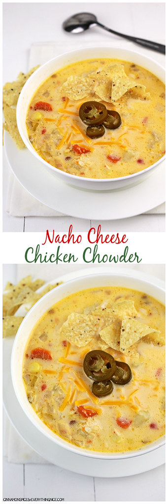 Nacho Cheese Chicken Chowder | cinnamonspiceandeverythingnice.com