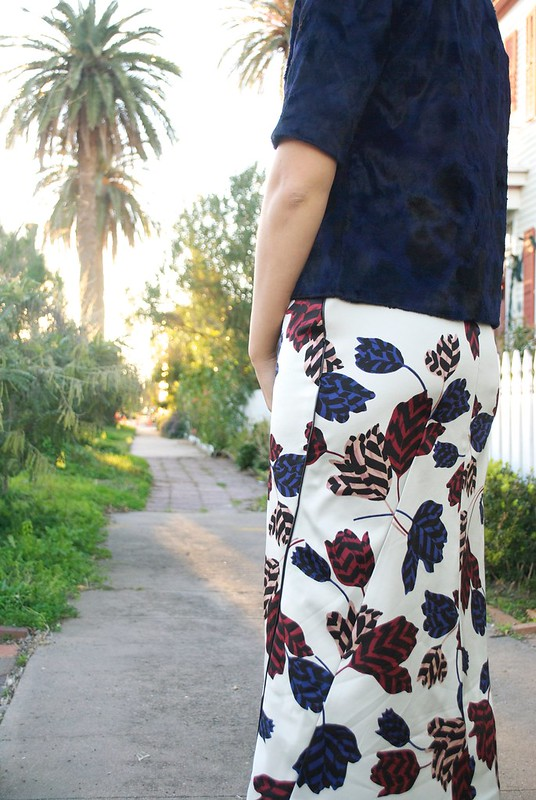 Mood Fabrics Marc Jacobs Poly Floral | Style Arc Zoe Skirt