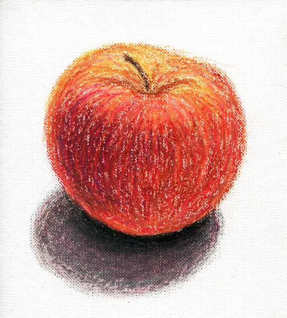 apple. Oil pastel. A6