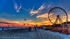 First Skywheel Sunset of 2015 by Robert Loe