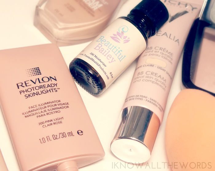 revlon photoready skin lights, am moisturizer and vichy bb cream