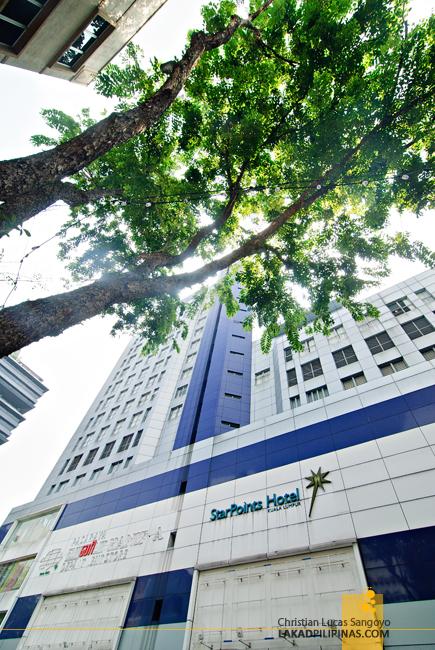 StarPoints Hotel Facade in Kuala Lumpur
