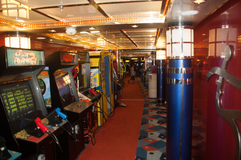 Arcade on cruise ship | Royal Caribbean