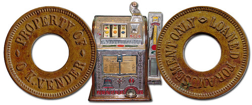 The O K Vender Gambling Machine Token