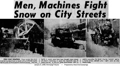 Snow Clearing January 5, 1949 Winnipeg Tribune
