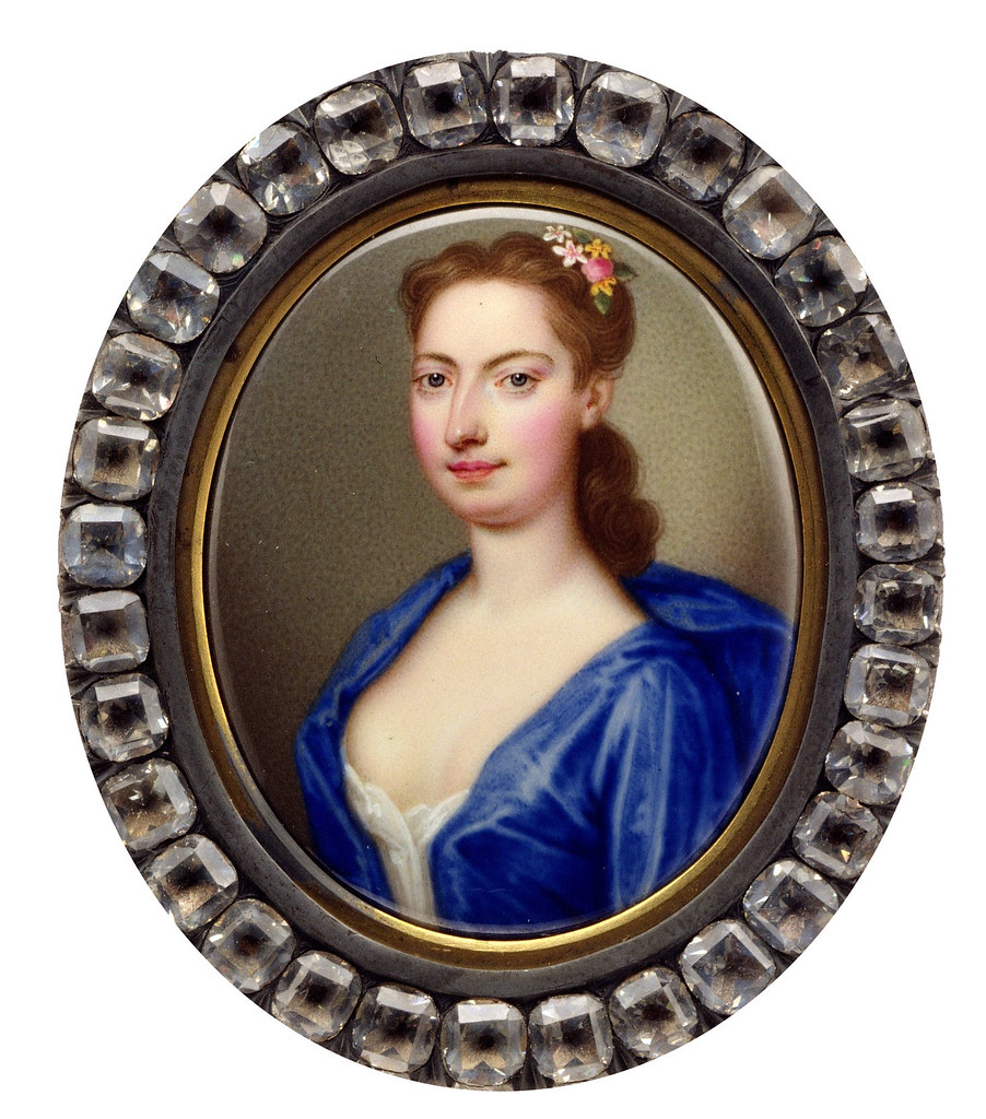 Mrs. Vanderbank by Christian Friedrich Zincke, 1730