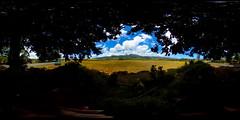 A view of Mt. Ka'ala in the Waianae Range from Waialua, O'ahu, Hawai'i...a 360° Equirectangular VR