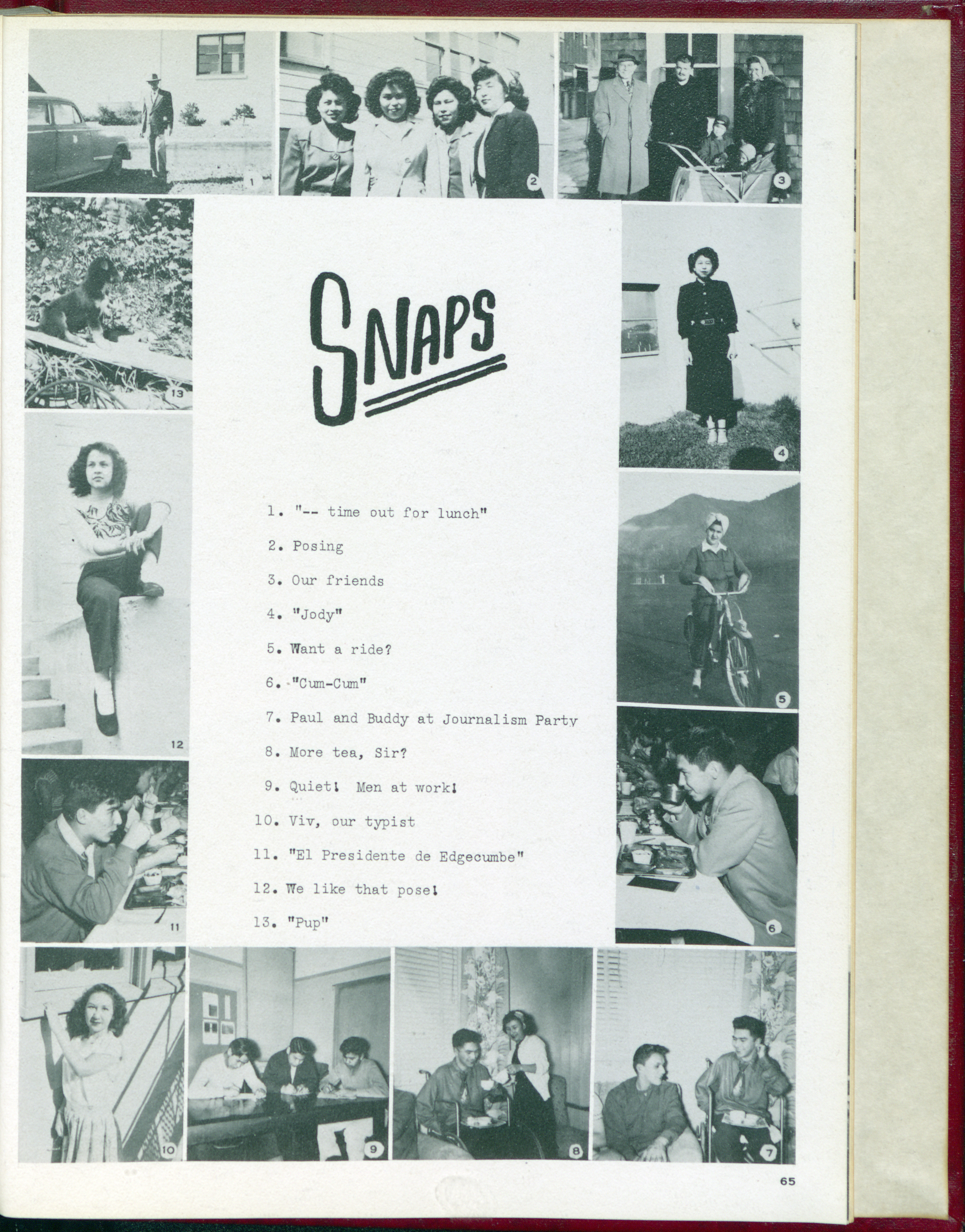 Taheta, 1950. Page 69.