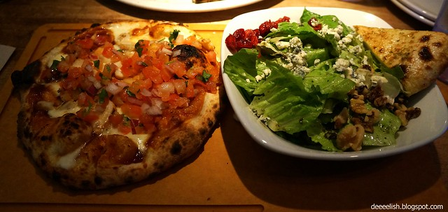 Sweet BBQ Chicken Pizza and Salad Combo at Famoso