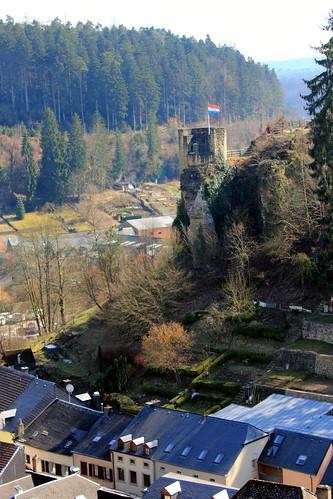 View from Larochette Castle