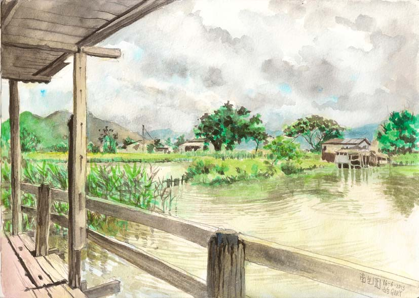 Sketching at a Wetland
