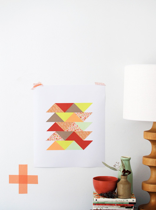 DIY: Paper Patchwork Art