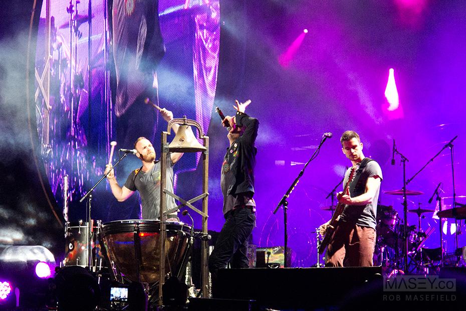 Coldplay launch into their epic hit 'Viva La Vida'.