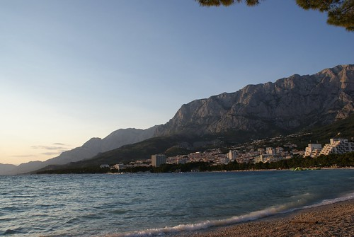 The beach in Makarska