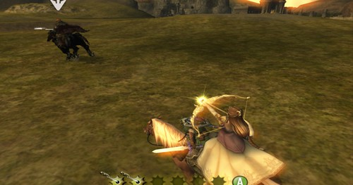 Zelda firing a Light Arrow.