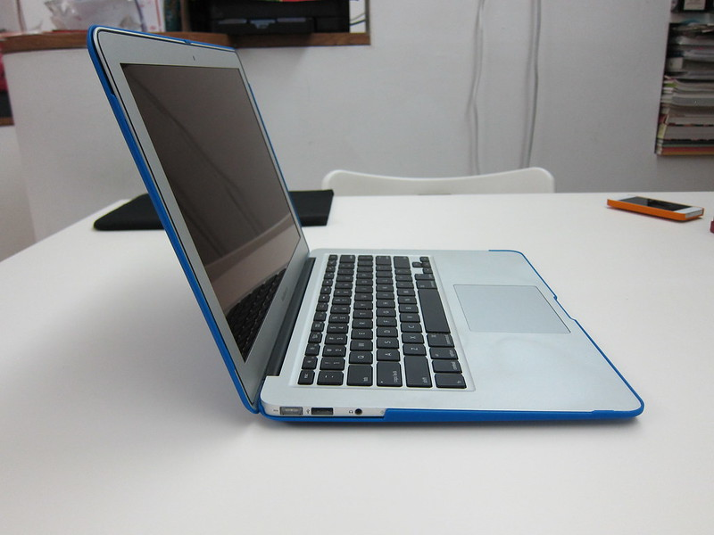 STM Grip for MacBook Air 13 Inch - With MacBook Air Opened (Side View)