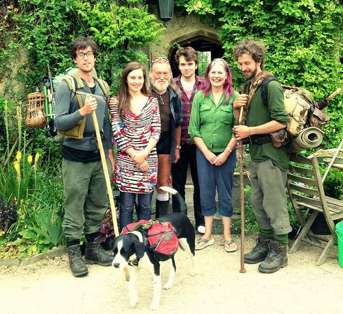 With the Malmesbury Abbey folk