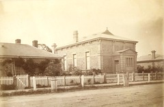 Court House on Cowan Street - Police Station on left and B.E.Deland lived rhs in 21 Cowan St