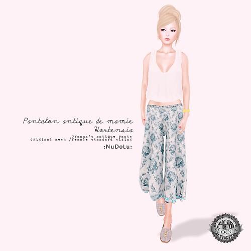 NuDoLu Pantalon antique de mamie Hortensia AD