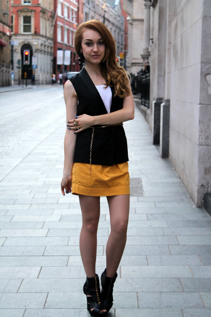 Topshop yellow skirt (2)