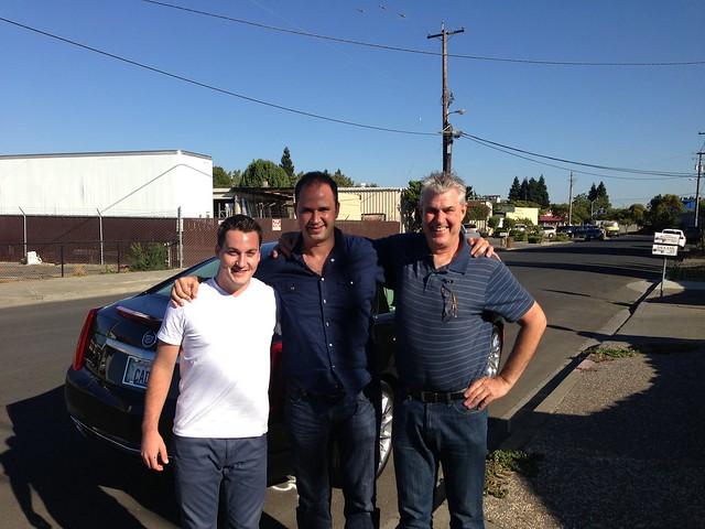 Nextopias Mike Latty (left) and Derek Wisniewski (center) with CaddyDaddy.com Founder John Coyle (right)