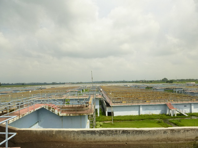 View of the Bharwara sewage treatment plant