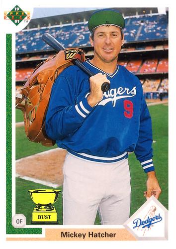 Baseball Card Bust Mickey Hatcher 1991 Upper Deck