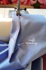 shirt, sleeve placket, cuff, tutorial