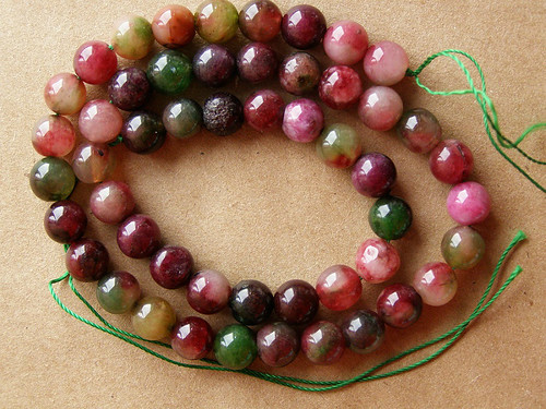 Watermelon tourmaline - Beads (ball)