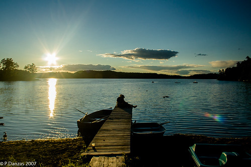 sunset canada quebec lac heney