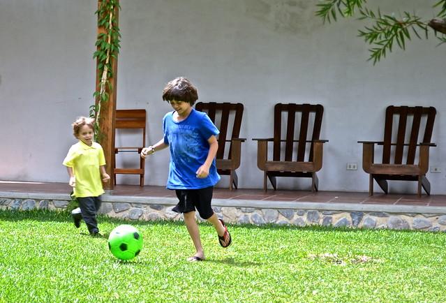 Futbol, Restaurante Hana, Lake Atitlan, Guatemala
