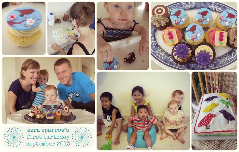 ezra sparrow's first birthday
