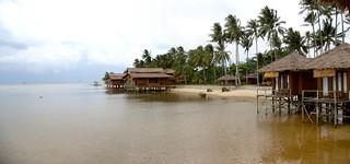 Houses on piles, Bintan island, Riau, Indonesia