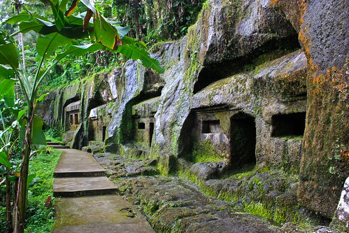 houses carved into rock