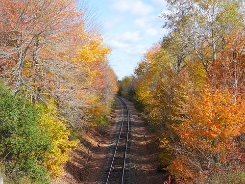 pictures new trip railroad travel autumn light sky usa color fall nature clouds forest landscape geotagged photography us photo leaf woods day image photos fallcolors live maine scenic tracks picture images foliage photograph digitalcamera belgrade aki exploration leafs mori railroadtracks photooftheday picoftheday lautomne fugifilm laforêt elotoño dailynaturetnc12 rong58 elfollaje finepixhs50exr