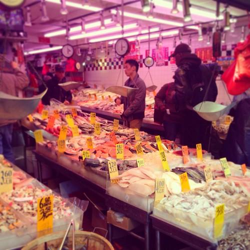 Chinatown fish stall