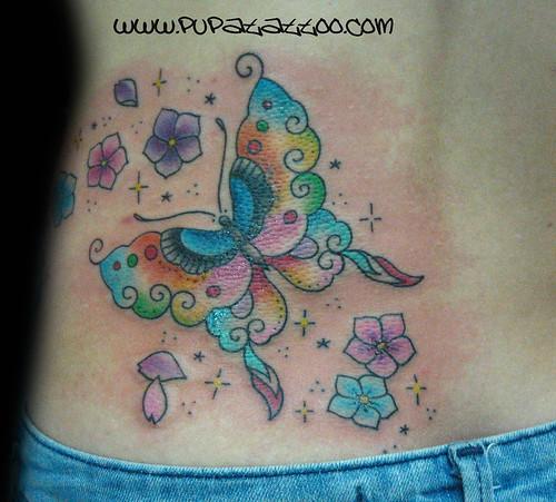 Tatuaje mariposa Pupa Tattoo, Granada by Marzia PUPA Tattoo