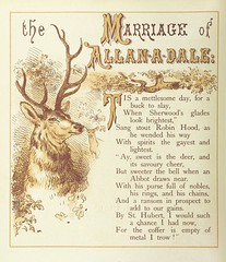 """British Library digitised image from page 72 of """"The Merry Ballads of the Olden Time, illustrated in pictures & rhyme"""""""