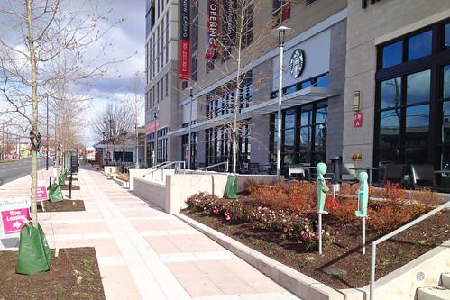 Sidewalk Outside Wheaton Safeway