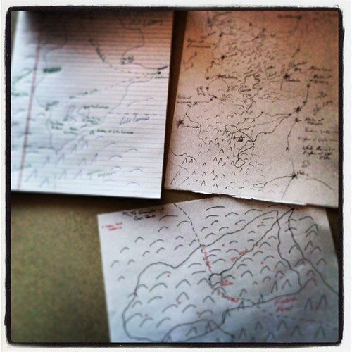 What I did on lunch break today: Maps! Mapping helps plan the tale. #AmWriting #fantasy