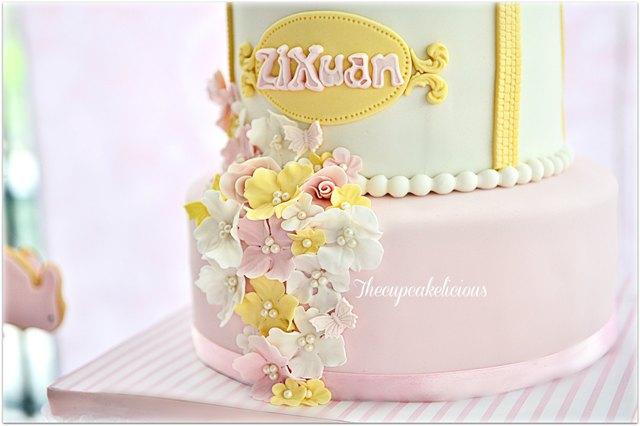 bunny themed cake