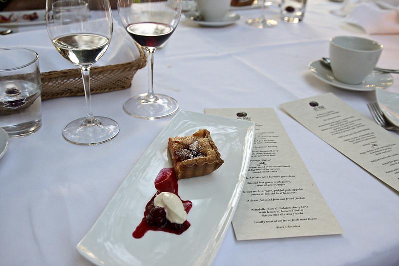 plum-cherry tart