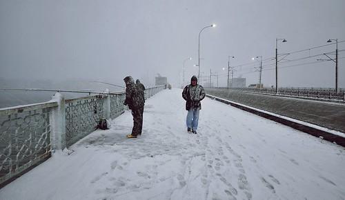 Winter Galata Bridge