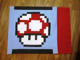 Super Mario Mushroom Pillowcase