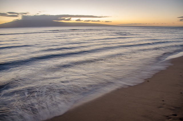 Kaanapali Beach at sunset, Maui