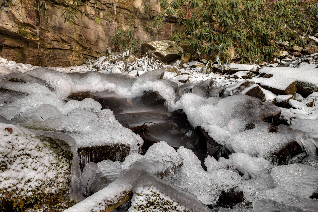 Ice below Hideout Falls, Big South Fork NRRA, Scott Co, TN