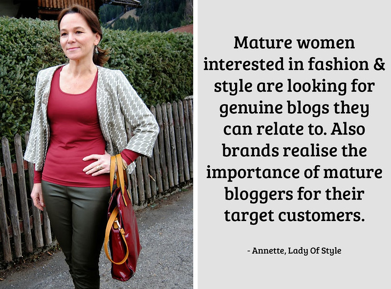 Annette, Lady Of Style on being a 40+ fashion blogger